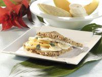 Brot mit Melone und Ziegenkäse Rezept