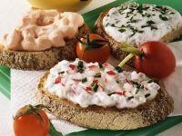 Brot mit Radieschenquark und Varianten Rezept