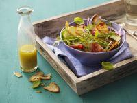 Brotsalat mit Rucola und Tomate Rezept
