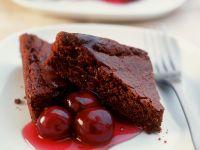 Brownie mit Kirschen Rezept