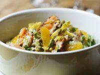Bulgur-Lachs-Salat mit Orangen Rezept