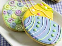 Bunte Ostereier-Kekse