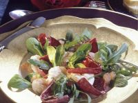 Bunter Blattsalat mit Garnelen Rezept