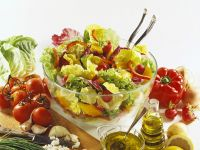 Bunter Blattsalat mit Paprika Rezept