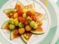 Bunter Melonensalat Rezept