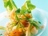 Bunter Salat mit Mango und Schinken