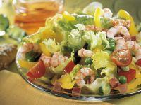 Bunter Salat mit Shrimps