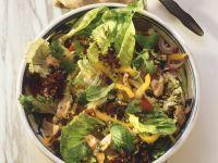 Bunter Salat und Pute und Ingwer Rezept