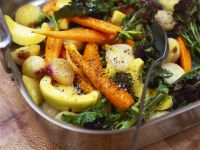 Buntes Gemüse aus dem Ofen Rezept