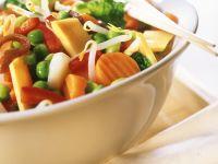 Buntes Gemüse mit Speck Rezept