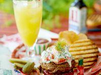 Burger mit Flusskrebsalat Rezept