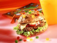Burger mit Paprikaperlen Rezept