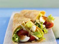 Burritos mit Salatfüllung Rezept