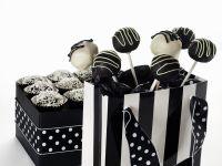 Cake Pops in schwarz und weiß Rezept