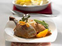 Canard à l'orange mit Kartoffelgratin Rezept