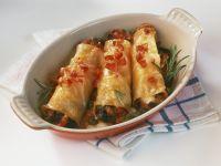 Cannelloni mit Auberginen und Kapern