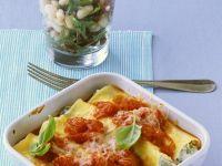 Cannelloni mit Quarkfüllung und Tomatensauce Rezept