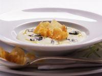 Cardysuppe mit Topinambur und Käse Rezept