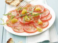 Carpaccio aus Tomaten Rezept