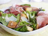 Ceasars Salad mit Schinken
