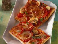Champignon-Pizza vom Blech Rezept