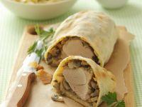Champignon-Schweinefilet-Strudel Rezept