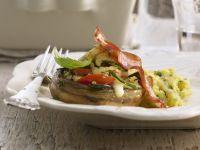 Champignons mit Mozzarella