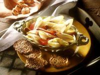 Chicoréesalat mit Linsenbratlingen Rezept