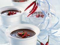 Chili-Schokoladen-Fondue Rezept