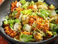 linsen pilz salat mit parmesanpl tzchen rezept eat smarter. Black Bedroom Furniture Sets. Home Design Ideas