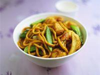 Chinesische Nudeln mit Garnelen Rezept