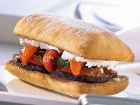 Ciabatta-Sndwich mit Röstgemüse Rezept