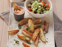 Country Potatoes mit Gemüsesalat Rezept