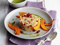 Couscous mit Kürbis und Kräuteröl
