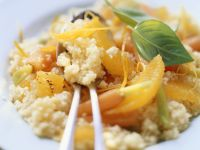 Couscous mit Orangen und Karotten Rezept