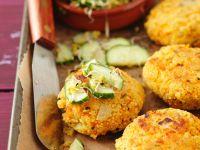 Couscouspuffer mit Salat Rezept