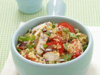 Couscoussalat mit Hähnchen und Tomaten Rezept
