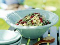 Couscoussalat mit Lauchzwiebeln und Radieschen Rezept