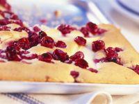 Cranberry-Blechkuchen Rezept