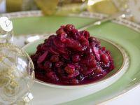 Cranberry-Rotwein-Sauce Rezept