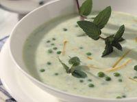 Cremesuppe mit Erbsen und Minze Rezept