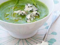 Cremige Brokkoli-Spinat-Suppe mit Käse Rezept