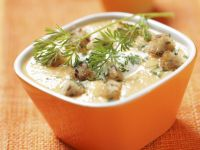Cremige Karottensuppe mit Croutons Rezept