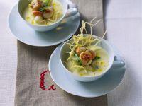 Cremige Kartoffelsuppe mit Jakobsmuscheln Rezept