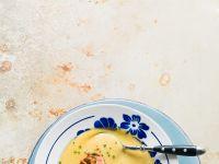 Cremige Kartoffelsuppe mit Speck-Topping Rezept