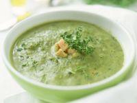Cremige Zucchinisuppe mit Lachs und Thymian Rezept