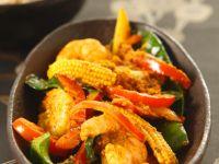 Cremiges Garnelen-Curry