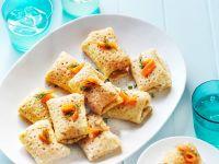 Crépe-Häppchen mit Lachs Rezept