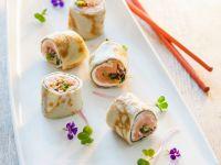 Crépe-Sushi mit Lachs Rezept