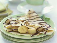 Crêpes mit Banane und Schokolade Rezept